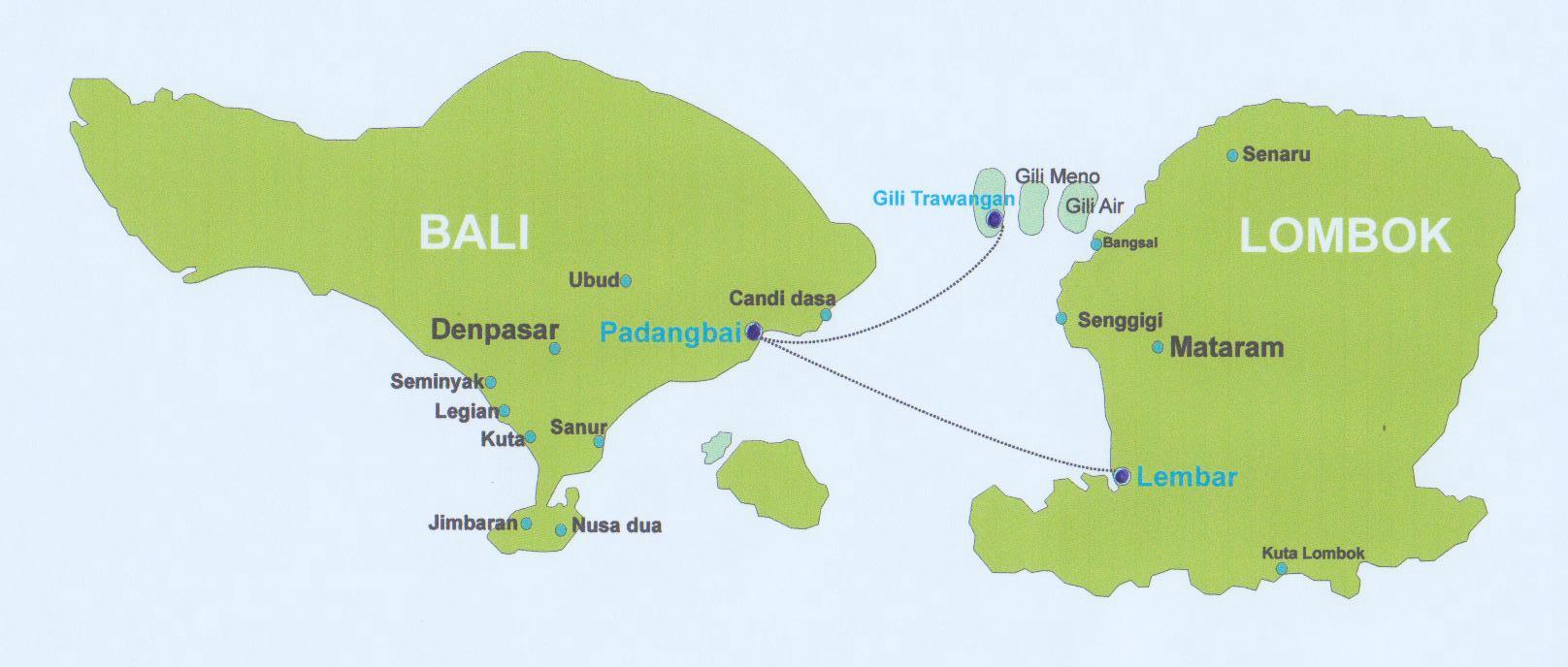 map bali lombok off2greatplaces. Black Bedroom Furniture Sets. Home Design Ideas